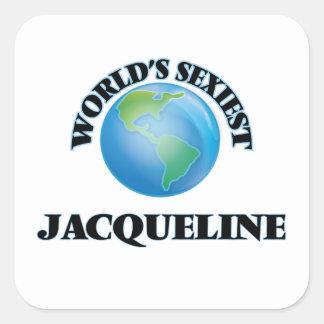 Jacqueline la plus sexy du monde sticker carré