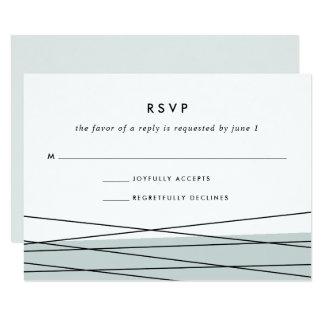 Jade Grayed de la carte | de la linéation RSVP Carton D'invitation 8,89 Cm X 12,70 Cm