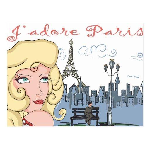 J'Adore Paris Cartes Postales