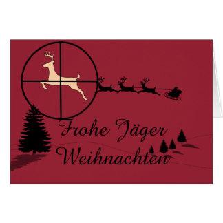 Jagdliche carte de Noël