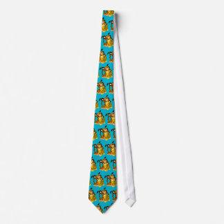 Jaguars mignons de bande dessinée dans la cravate
