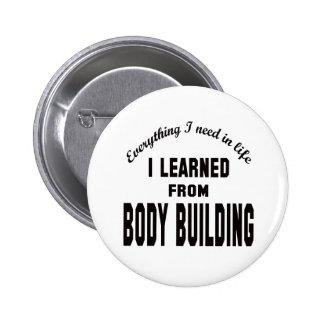 J'ai appris du bâtiment de corps