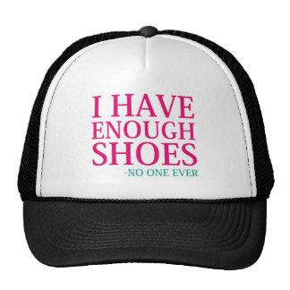 J'ai assez de chaussures casquette trucker