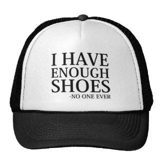 J'ai assez de chaussures casquettes