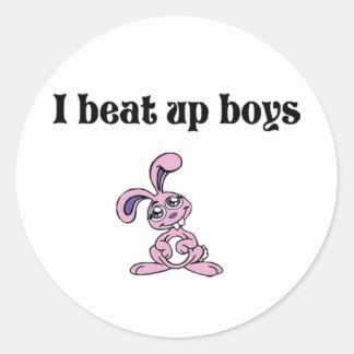 J'ai battu des garçons sticker rond