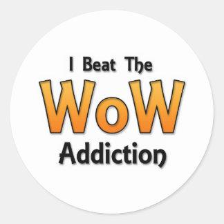 J'ai battu la dépendance de wow sticker rond
