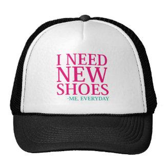 J'ai besoin de nouvelles chaussures casquette