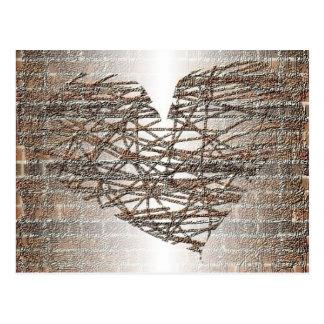 J'ai construit un mur autour de mon coeur carte postale