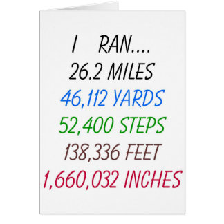 J'ai couru 26,2 milles carte de vœux