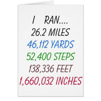 J'ai couru 26,2 milles cartes