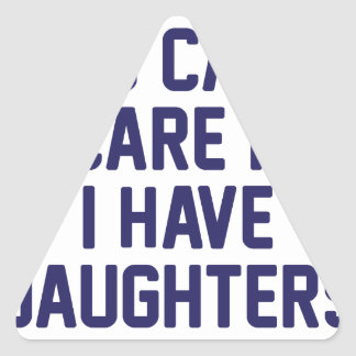 J'ai des filles sticker triangulaire