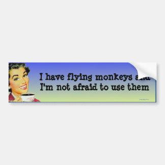 J'ai des singes de vol… autocollant de voiture