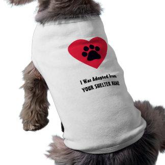 J'ai été adopté de… t-shirt pour chien