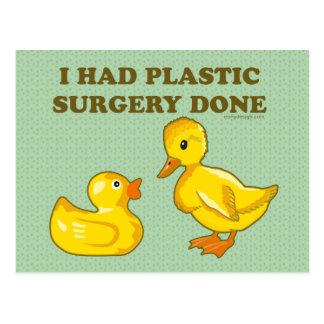 J'ai fait faire la chirurgie plastique carte postale