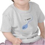 J'ai gagné le T-shirt drôle bleu de bébé
