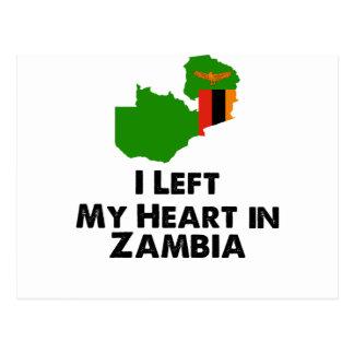 J'ai laissé mon coeur en Zambie Cartes Postales