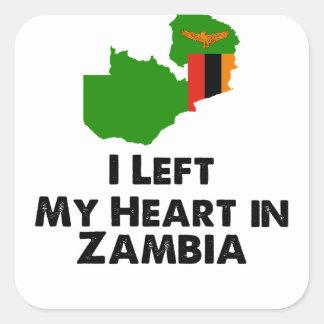J'ai laissé mon coeur en Zambie Sticker Carré