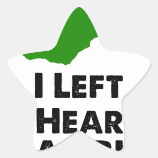J'ai laissé mon coeur en Zambie Sticker Étoile
