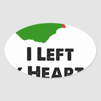 J'ai laissé mon coeur en Zambie Sticker Ovale