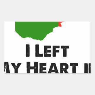 J'ai laissé mon coeur en Zambie Sticker Rectangulaire
