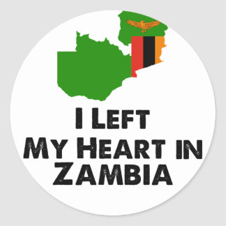 J'ai laissé mon coeur en Zambie Sticker Rond