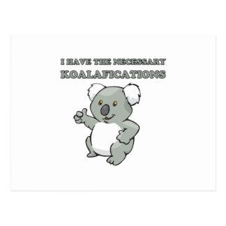 J'ai le Koalafications nécessaire Carte Postale