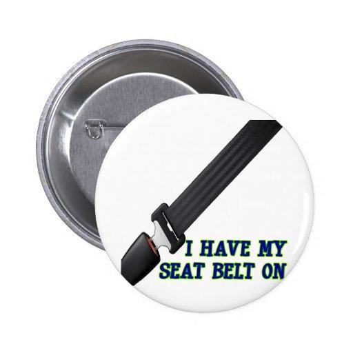 J'ai ma ceinture de sécurité Dessus Pin's Avec Agrafe