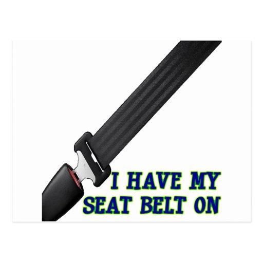J'ai ma ceinture de sécurité Dessus Cartes Postales