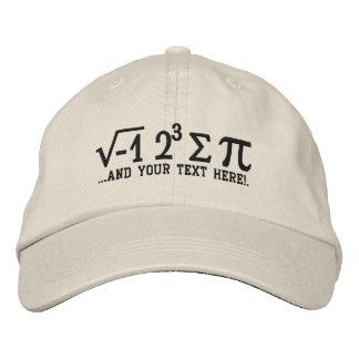 J'ai mangé un certain pi et votre texte casquette brodée