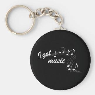 J'ai obtenu le porte - clé de musique porte-clé rond
