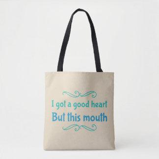 J'ai obtenu un bon coeur mais ce sac fourre-tout à