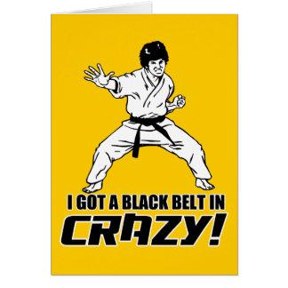 J'ai obtenu une ceinture noire dans fou carte de vœux