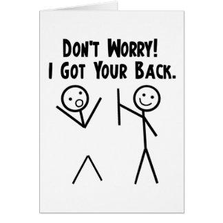 J'ai obtenu votre dos ! carte de vœux