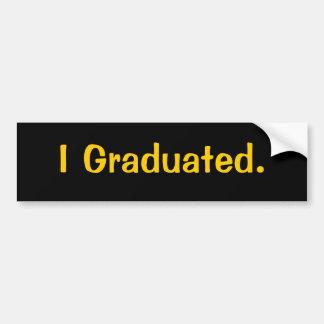 J'ai reçu un diplôme. adhésif pour pare-chocs adhésif pour voiture