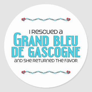 J'ai secouru Grand Bleu de Gascogne (le chien Autocollant Rond