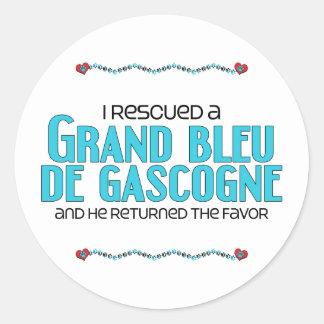 J'ai secouru Grand Bleu de Gascogne (le chien Adhésif Rond