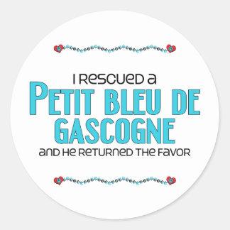 J'ai secouru Petit Bleu de Gascogne (le chien Adhésifs Ronds