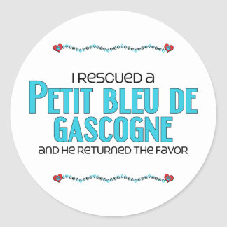 J'ai secouru Petit Bleu de Gascogne (le chien masc Adhésifs