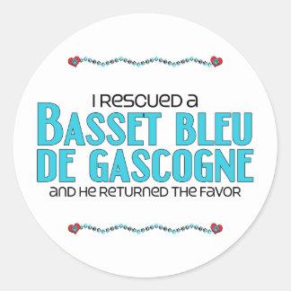 J'ai secouru un basset Bleu de Gascogne (le chien Sticker Rond