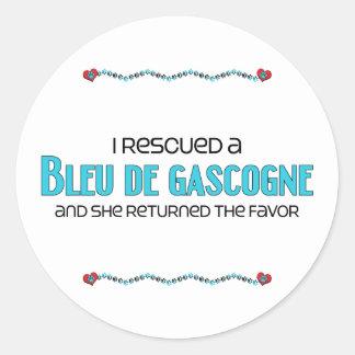 J'ai secouru un Bleu de Gascogne (le chien Autocollants Ronds
