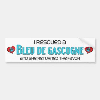 J'ai secouru un Bleu de Gascogne (le chien femelle Autocollant Pour Voiture