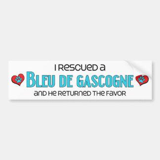 J'ai secouru un Bleu de Gascogne (le chien masculi Autocollant De Voiture