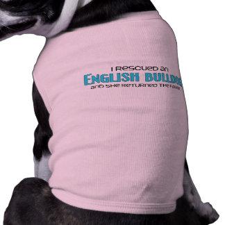 J'ai secouru un bouledogue anglais (le chien femel t-shirts pour chien