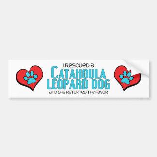 J'ai secouru un chien de léopard de Catahoula (le  Autocollant De Voiture