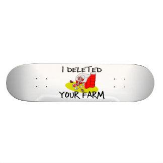 J'ai supprimé votre ferme skateboards cutomisables
