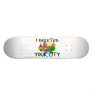 J'ai supprimé votre ville skateboard 19,7 cm