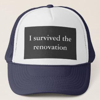 J'ai survécu à la rénovation casquette