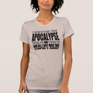 J'ai survécu à l'apocalypse 2012 t-shirt