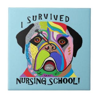 J'ai survécu à l'école d'infirmières petit carreau carré