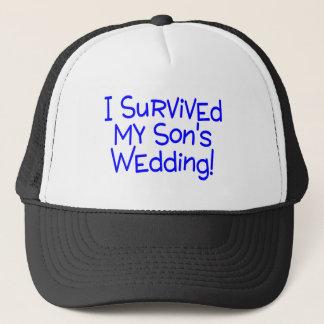 J'ai survécu à mes fils épousant le bleu casquette